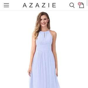 Azazie Bonnie lavender bridesmaid dress